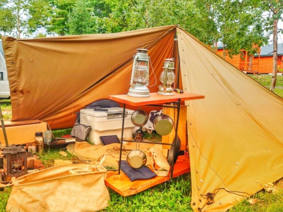 パンダTCのスカートの自作方法は?冬キャンプを快適に過ごすために準備